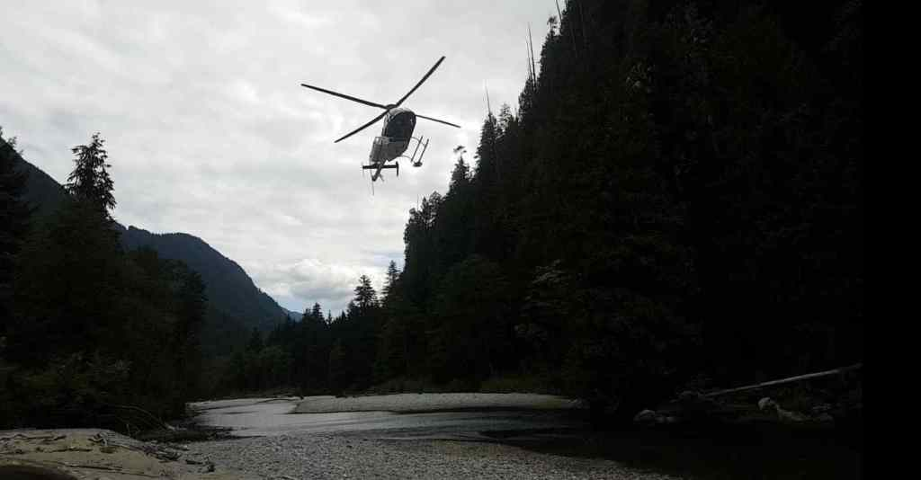 Helicopter fishing in Canada