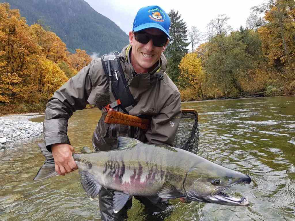 Chum Salmon Fly Fishing Trips Best in British Columbia Canada