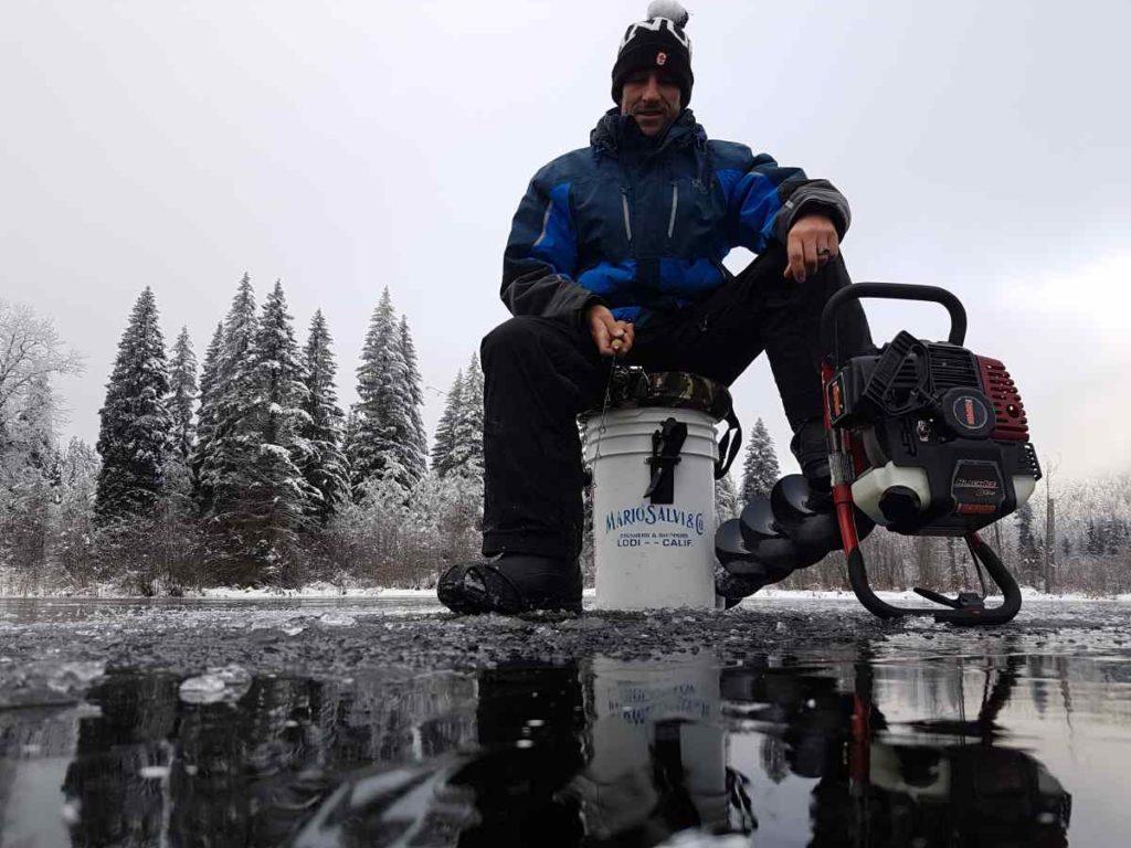 Ice fishing in Canada