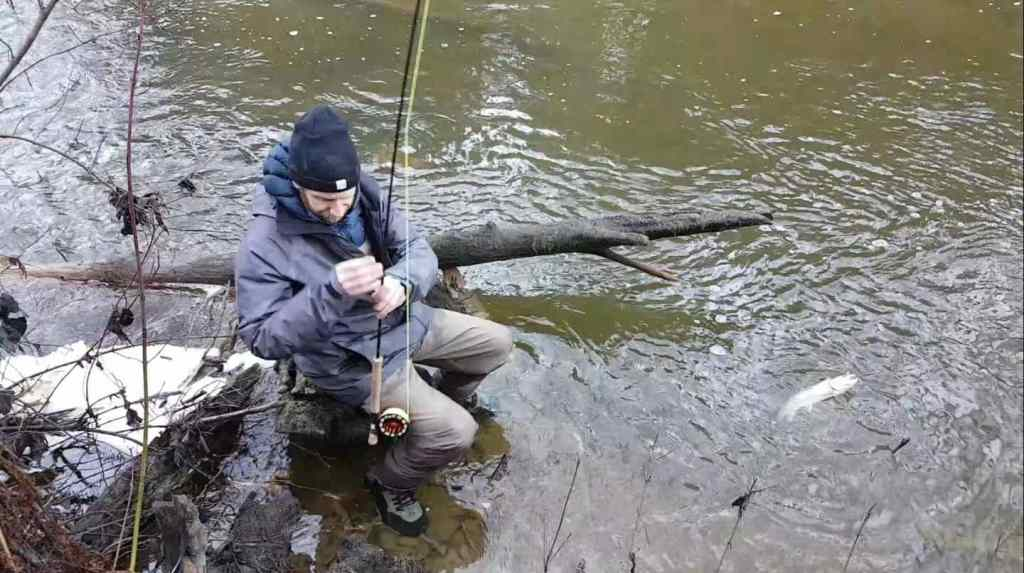 Winter Fly Fishing For Trout in British Columbia Canada