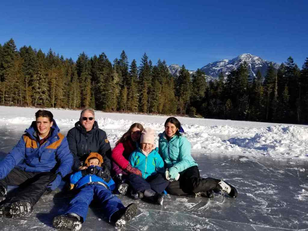 Ice fishing a Family activity in Whistler BC