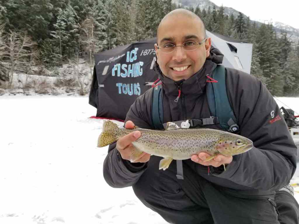 Ice fishing spots in Pemberton BC