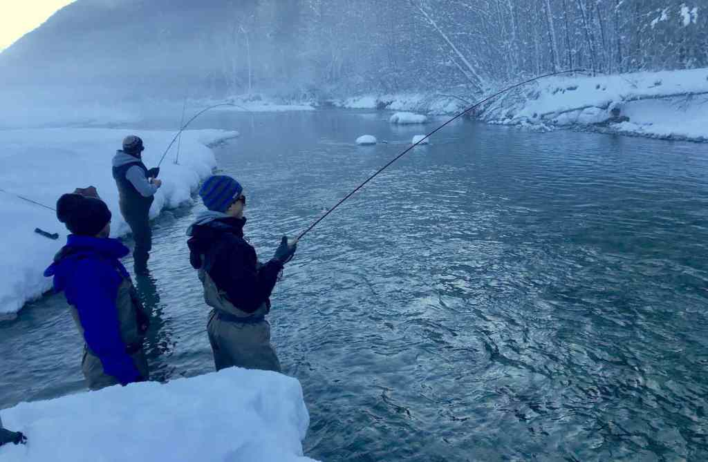 Winter fly fishing in BC