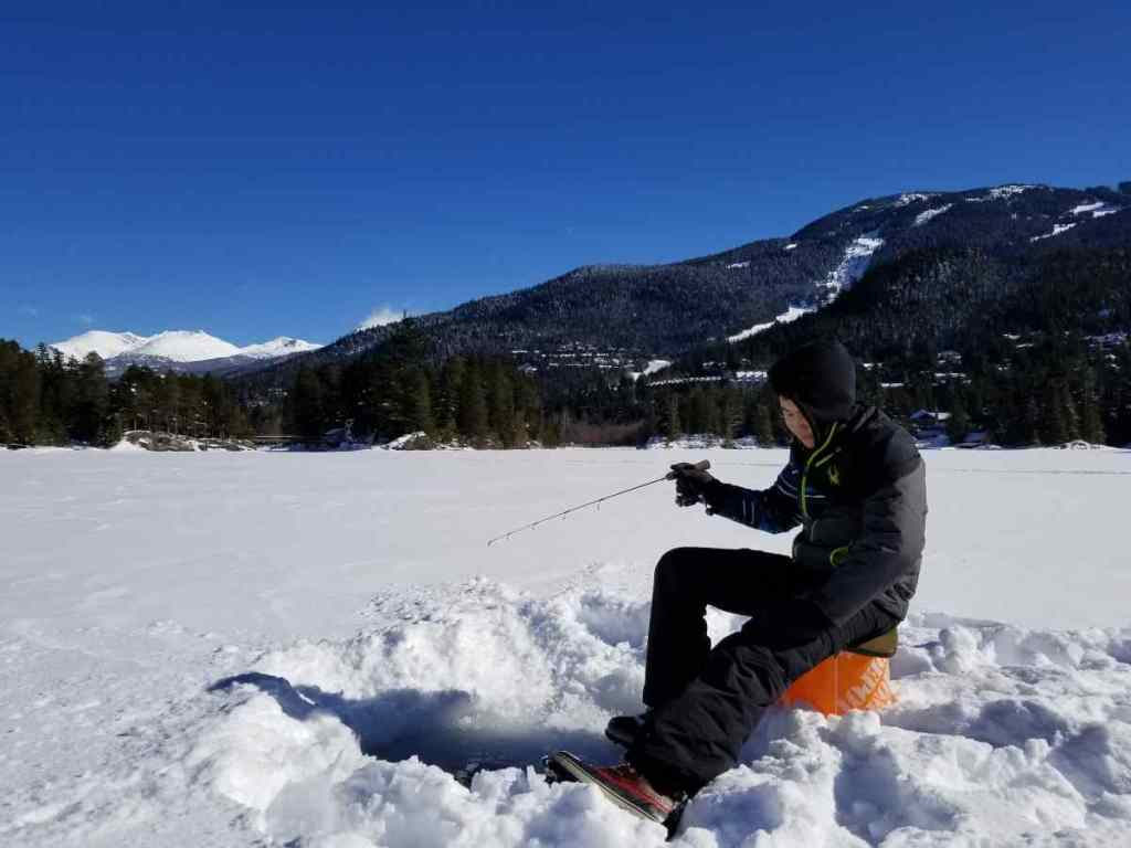 Ice fishing in Whistler BC