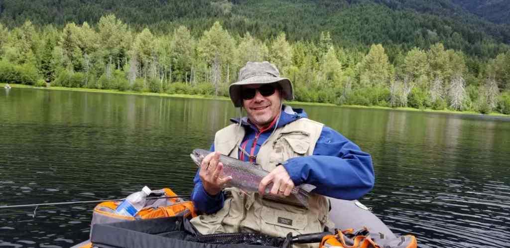 Lake fly fishing in Whistler BC