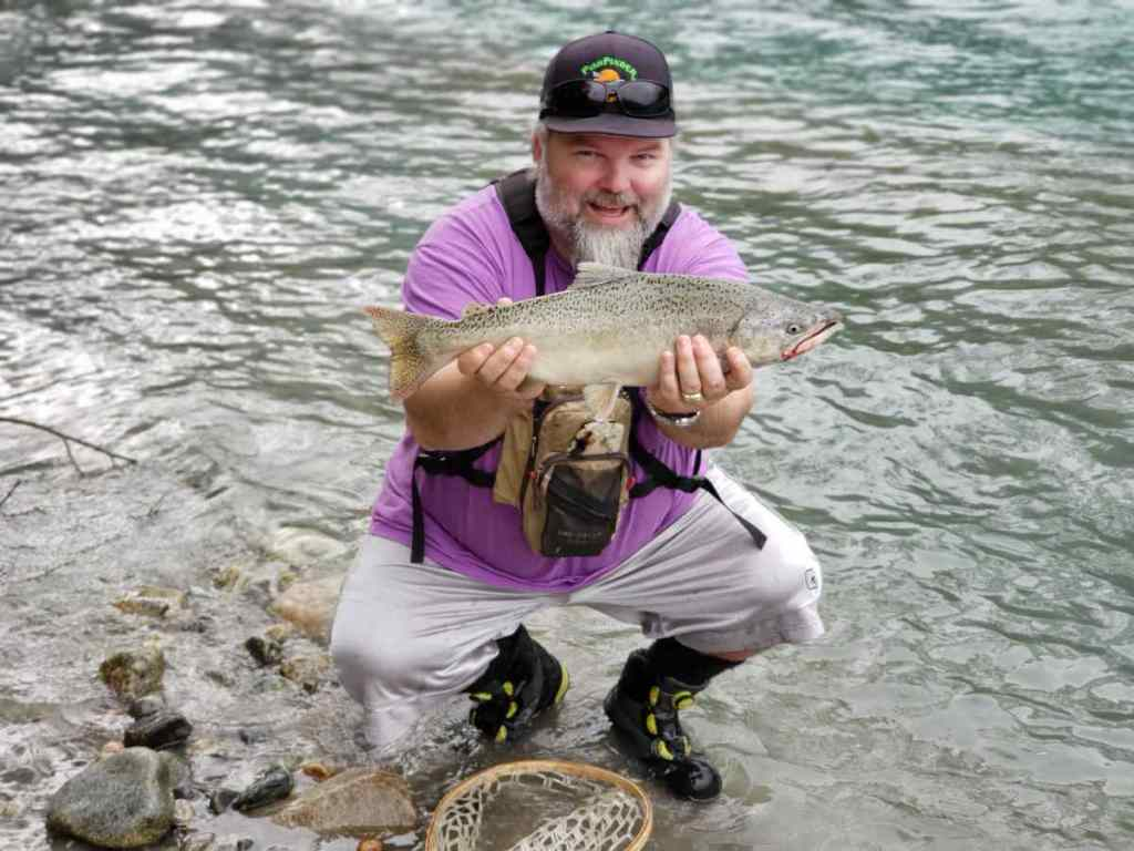 Helicopter fly fishing BC Salmon