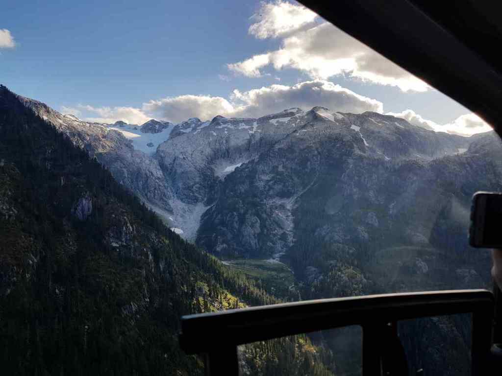 View from a helicopter