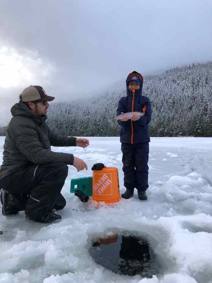 Guided Ice Fishing trips for Families in Whistler Canada