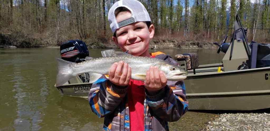 Kids fishing in BC