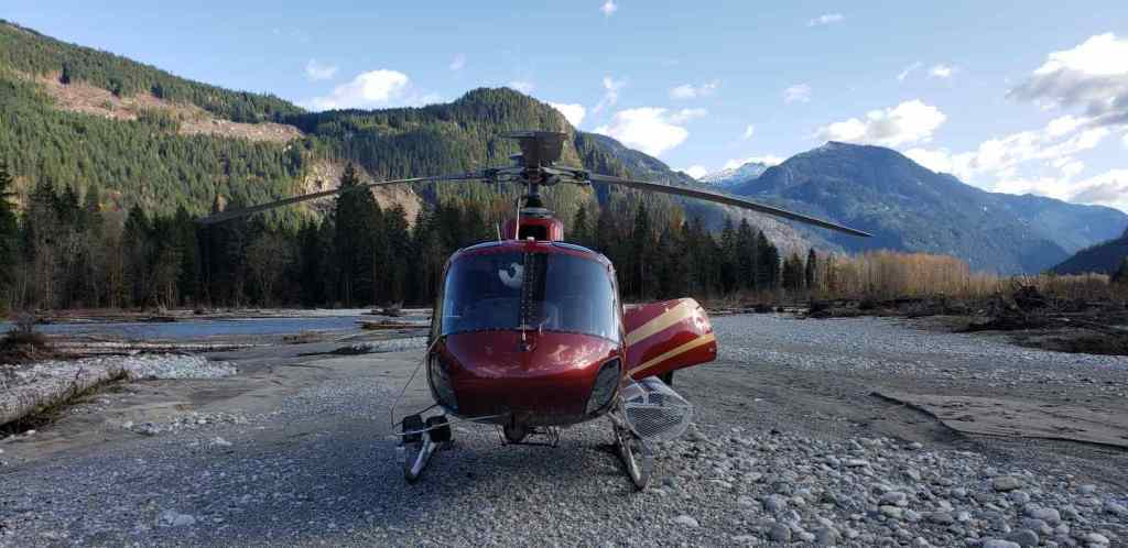 Helicopter Salmon fishing trips in British Columbia Canada