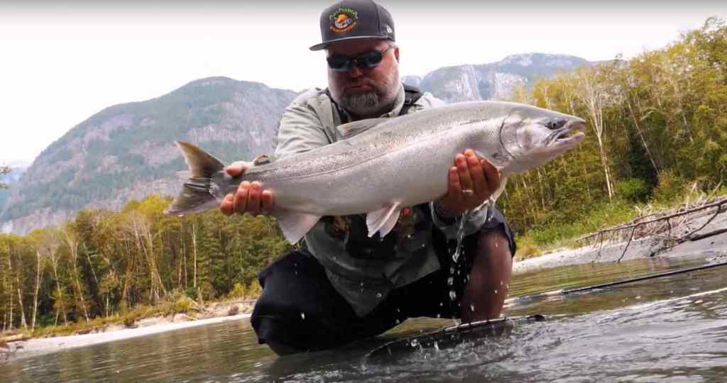 Heli Fishing for Salmon in British Columbia Canada