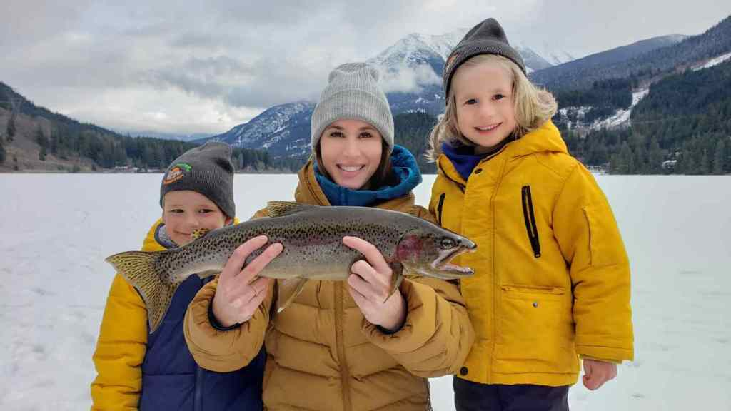 Family Ice Fishing trips in BC Canada