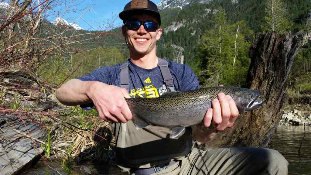 Cutthroat Trout fly fishing in British Columbia Canada