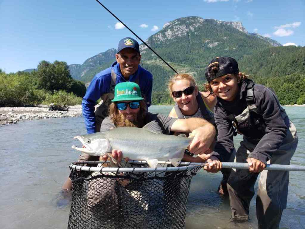 August Fishing Report Salmon Fishing Near Vancouver BC Canada