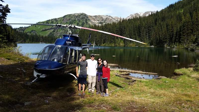 Heli fishing in BC Canada