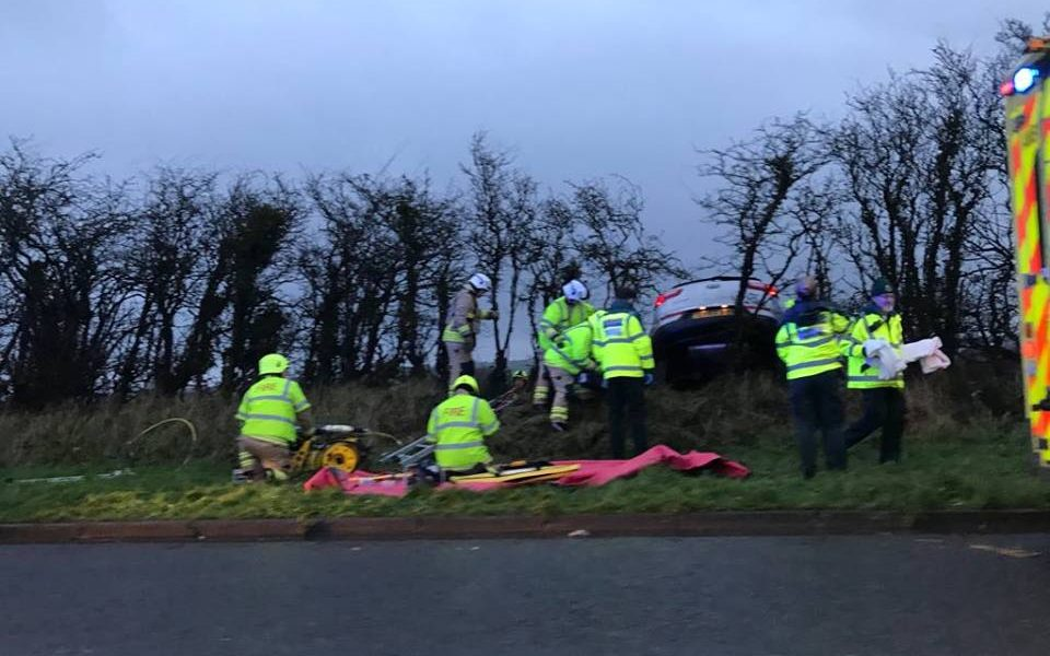 Emergency Services Dealing With Christmas Day Traffic