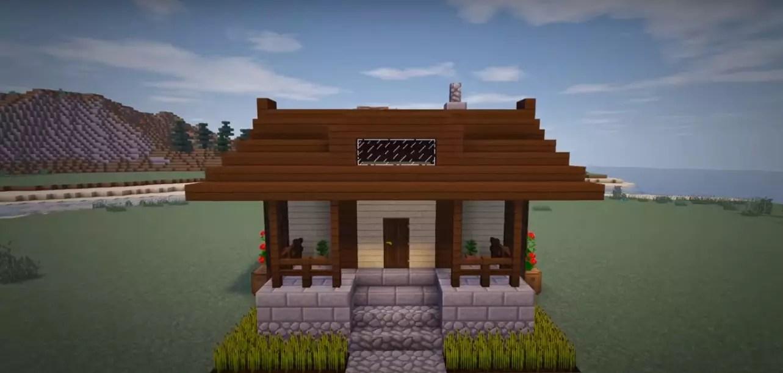 Схема постройки одноэтажного дома в Майнкрафт