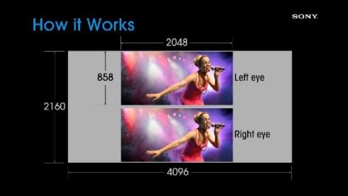 Dua Gambar 2K terpolarisasi sebelum di proyeksikan