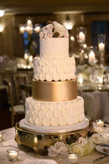 Classic gold wedding cake