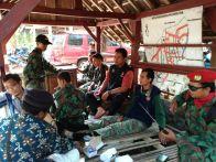 KOKAM Daerah bersama Ketua PDPM Gunungkidul Saudara Antok dan Komandan KOKAM Bayu