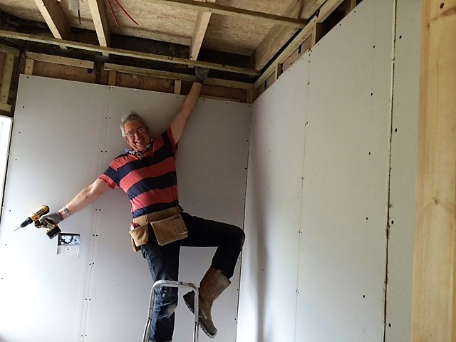 Mike making his bid for entry into the Builders calendar 2017