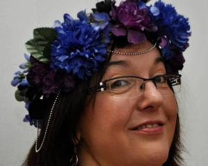 Photo by Ayanna Muata of Waning Moon Photography; flower crown by Gennie Alberti