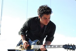 M. Ward performs on the main stage Saturday (Photo by Sean Pecknold)