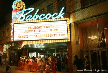 Guests line up outside the Babcock before Railroad Earth takes the stage.