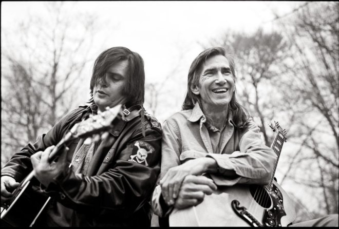 Steve Earle, left, and Townes Van Zandt, who mentored Earle after the two met in the 1970s. Earle performed to a sold-out crowd at Sheridan's Wyo Theater Aug. 8..