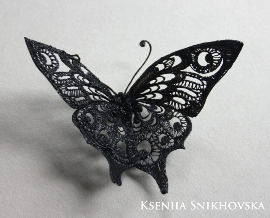 butterfly drawn with 3d pen