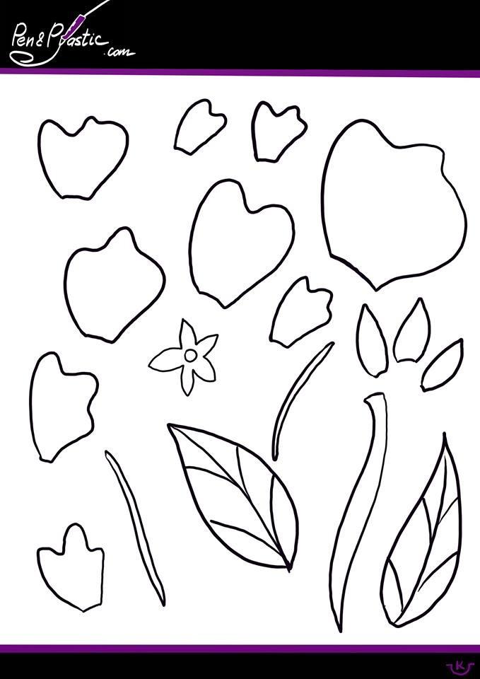 Flower 3D pen stencil