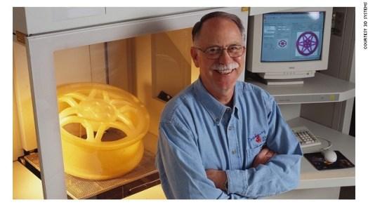 Chuck Hull invents 3D printing