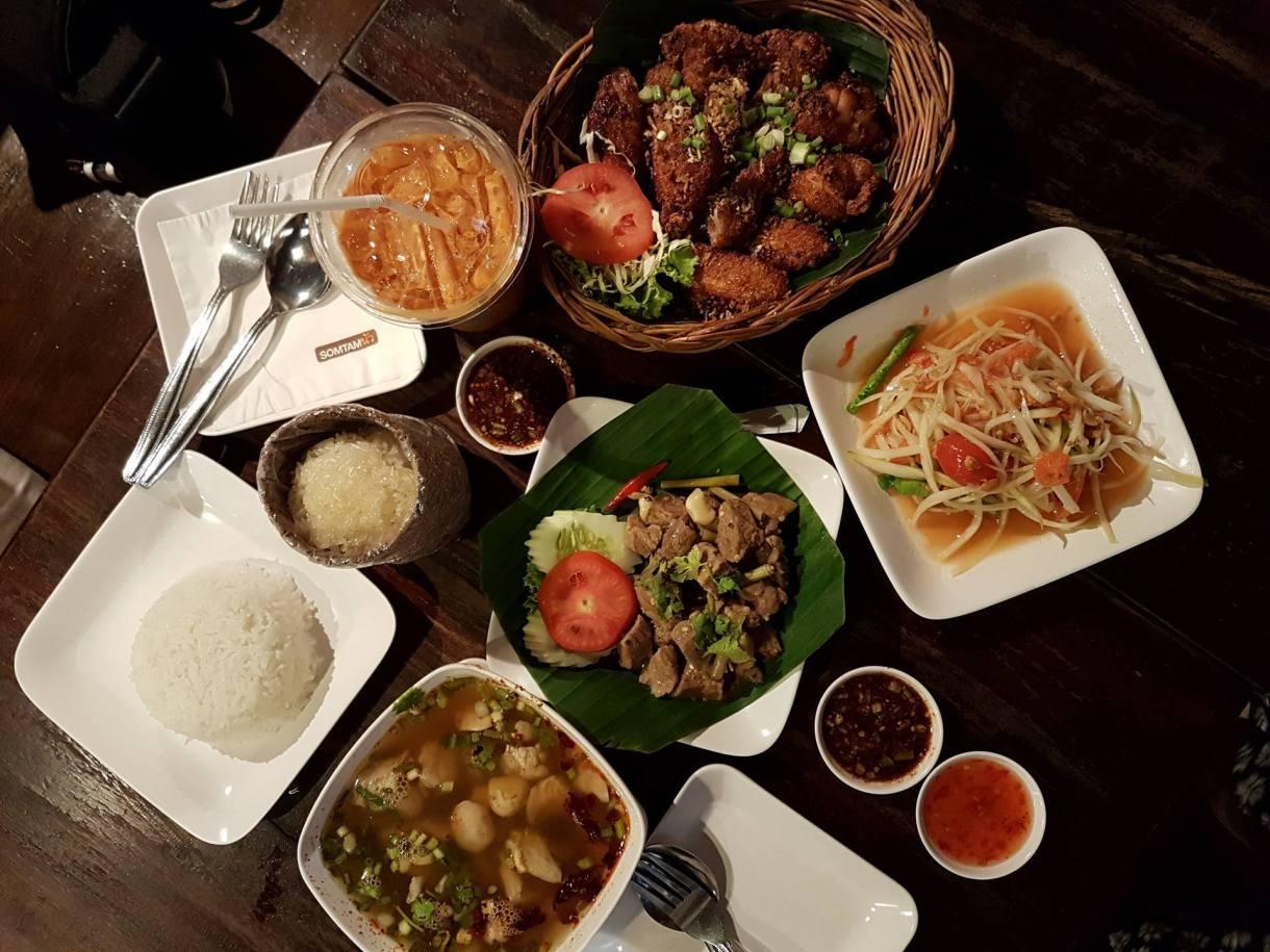 Somtam Nua Restaurant Siam Square Bangkok