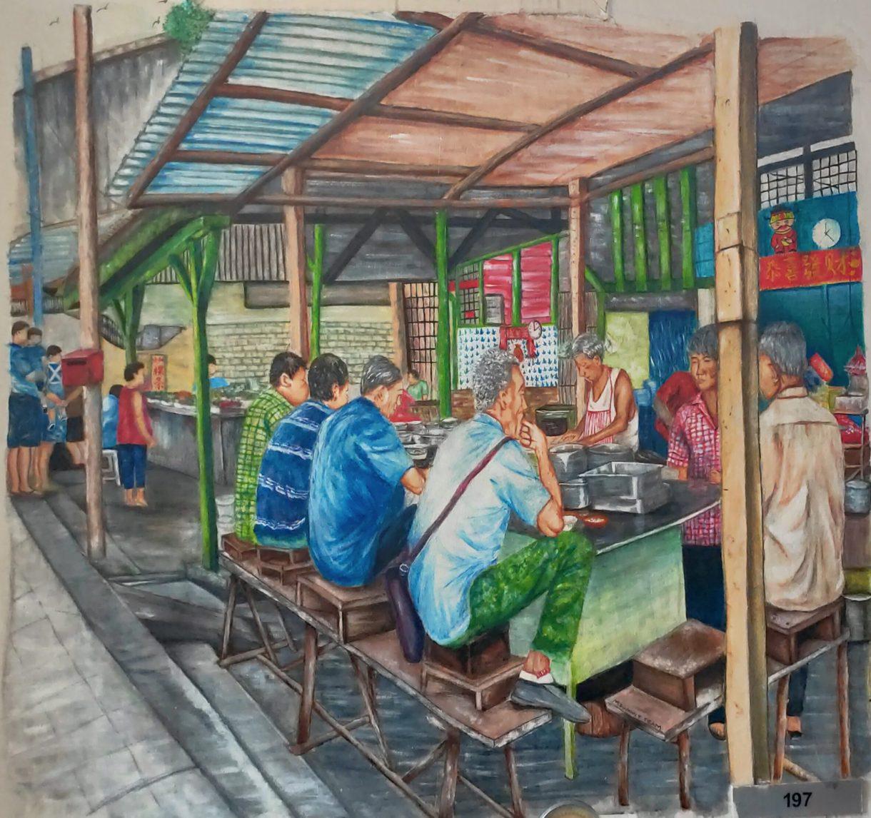 Squatting Teochew Porridge Mural