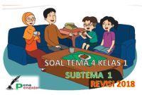 soal tematik kelas 1 tema 4 subtema 1 semester 1 revisi 2018