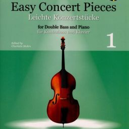 Easy Concert Pieces For Double Bass & Piano - Band 1 available at Pencerdd Music Store Penarth