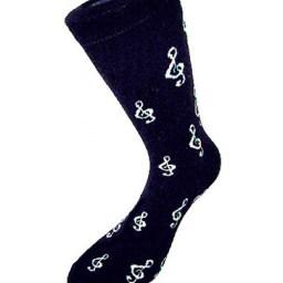 treble clef socks