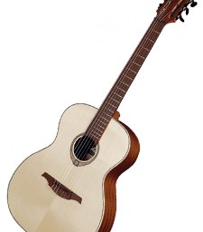 Lag Tramontane TN70A Folk Nylon Guitar available at pencerdd music store penarth near cardiff