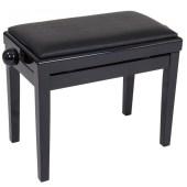 Kinsman Adjustable Piano Bench - Polished Gloss Black available at Penarth Music Centre
