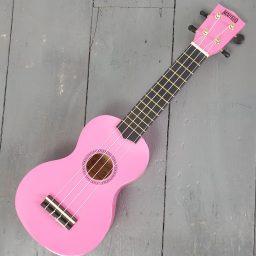 Mahalo Soprano Ukulele rainbow Pink available at Penarth Music Centre