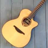 LAG T118 ASCE Auditorium Slim Cutaway Electro Acoustic – Natural penarth music centre