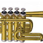 Yamaha YTR-6810 Piccolo Trumpet Bb&A 4 Valve available at Penarth Music Centre