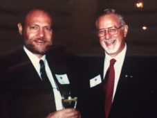 Douglas Gibson and Avie Bennett, M&S, McClelland & Stewart