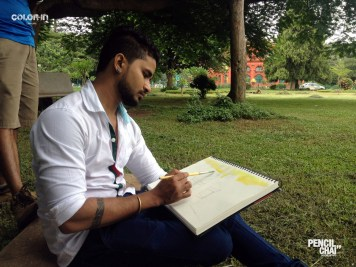 Watercolor #Spreadcolors revamp session revealed the secrets of picture composition - Pencil And Chai Object Compsition Sketching Session3 - Revamp session revealed the secrets of Picture composition