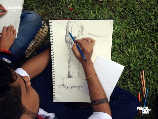 We had interested topic drawing session too! revamp session revealed the secrets of picture composition - Pencil And Chai Object Compsition Sketching Session54 - Revamp session revealed the secrets of Picture composition