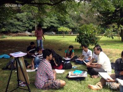 We got you, please sit straight ! portrait drawing - Potrait Drawing Fundamentals PencilAndChai ColorIn34 - Live portrait drawing study