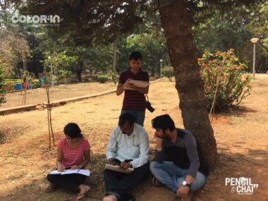 Outdoor Realistic Painting Classes in Bangalore_Pencil And Chai