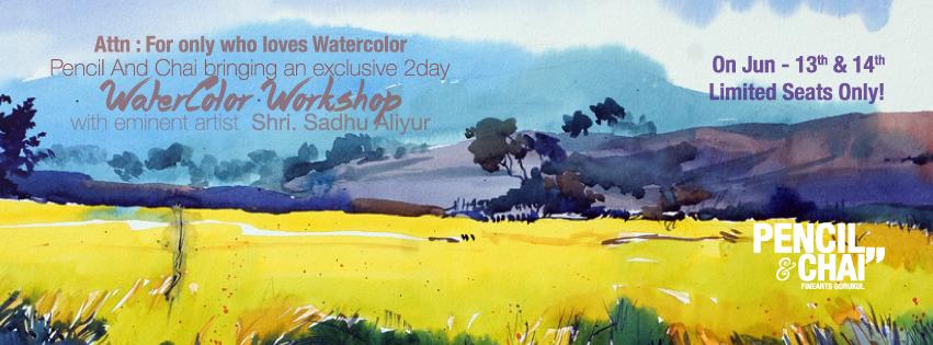 """Hues Of Watercolour"" With Shri.Sadhu Aliyur - 100 th poster fb event  - ""Hues Of Watercolour"" With Shri.Sadhu Aliyur #PAC100"