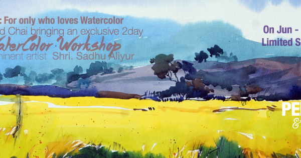 """Hues Of Watercolour"" With Shri.Sadhu Aliyur - 100 th poster fb event  - ""Hues Of Watercolour"" With Shri.Sadhu Aliyur #PAC100"