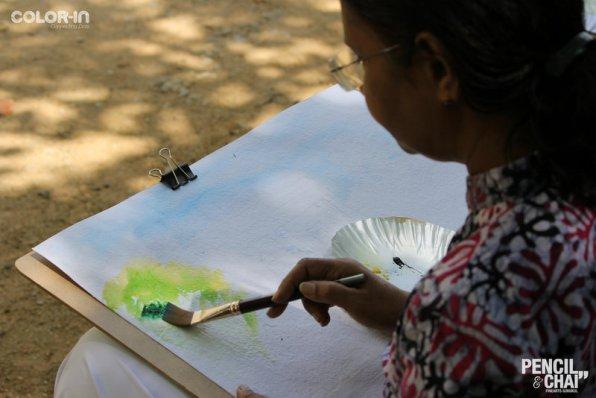 Hues of Watercolor_Watercolor workshops in Bangalore_Coloring India0048